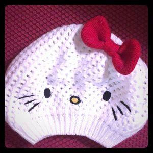 Hello Kitty knitted beanie